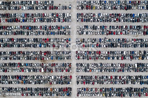 istock Wrecked Cars from Above 1155856159