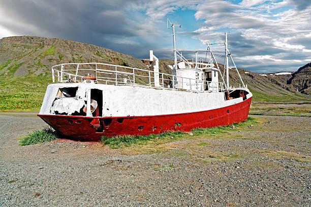 Schiffbruch Fischerboot – Foto