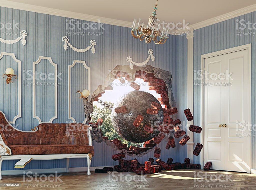 Abrißbirne im Zimmer – Foto