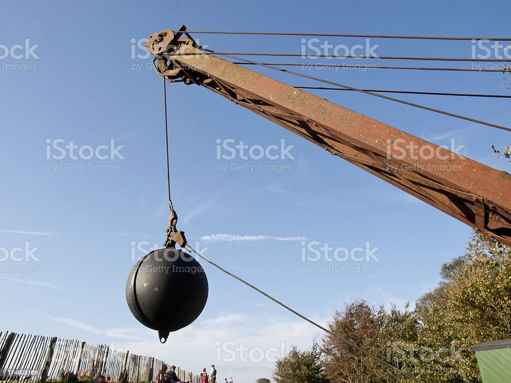Wrecking ball stock photo