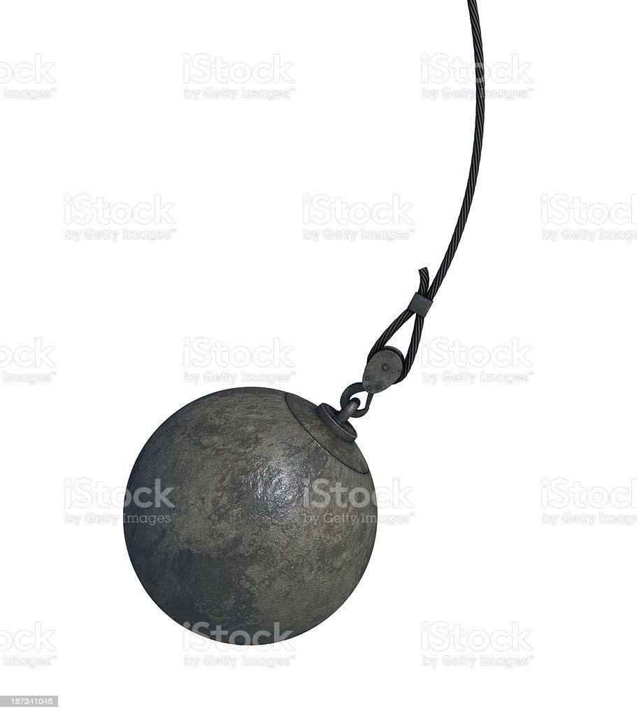 wrecking ball stock photo