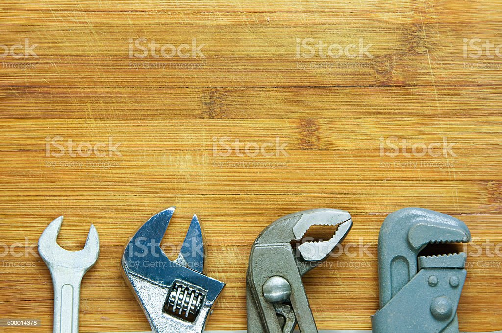 wrench, adjustable wrench, sanitary key stock photo