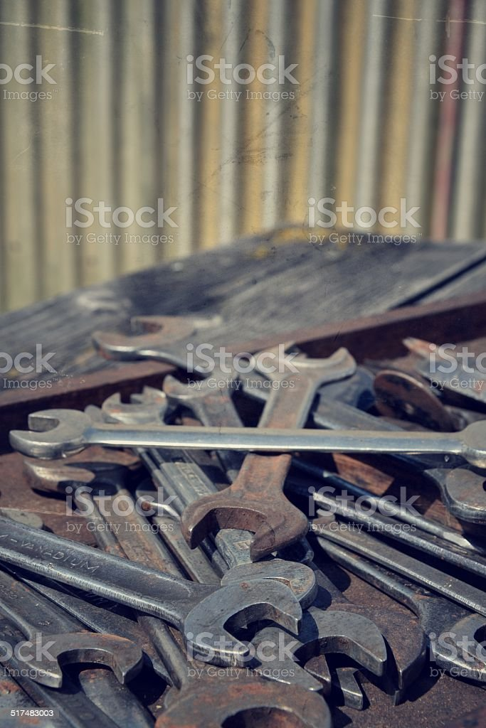Wrench also called spanner stock photo