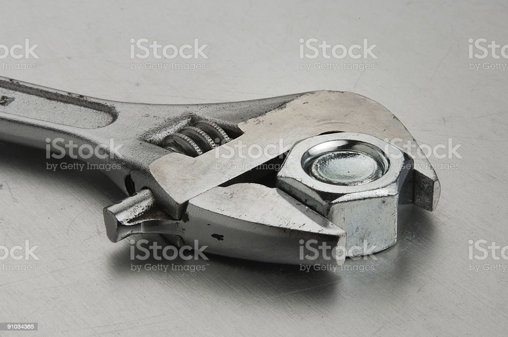 wrench close-up royalty-free stock photo