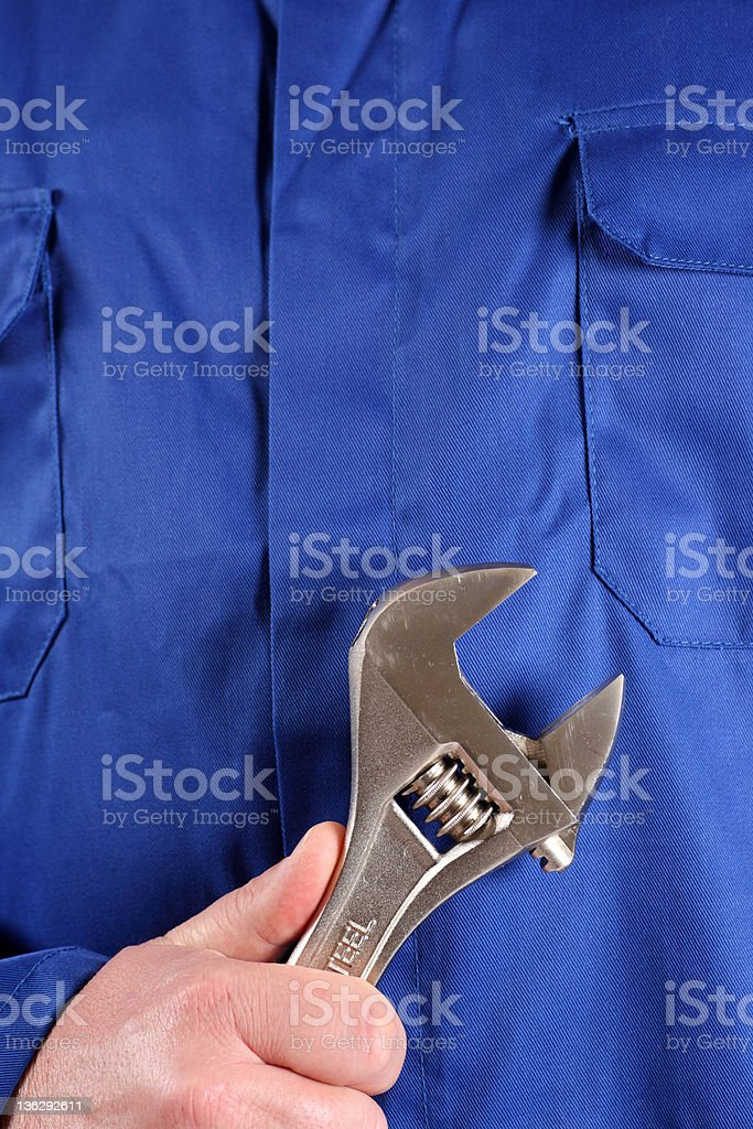 Wrench royalty-free stock photo