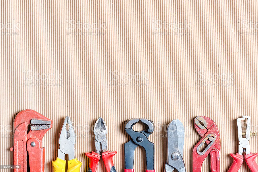 Wrenches and cutters stock photo