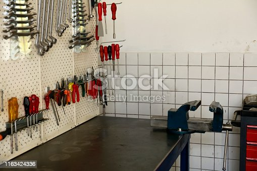 1155772265 istock photo Wrenches in the workshop 1163424336
