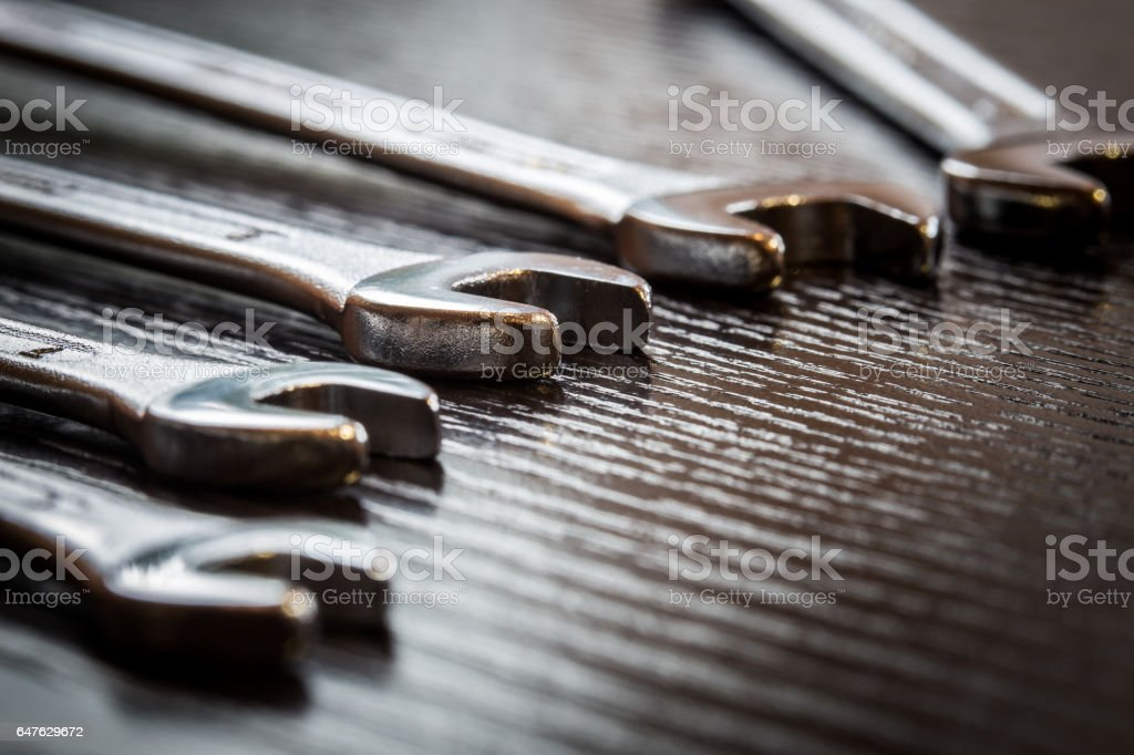 wrenches stock photo