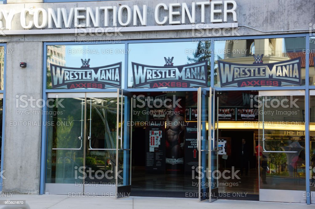 Wrestlemania WWE Axxess event entrance at the McEnery Convention Center