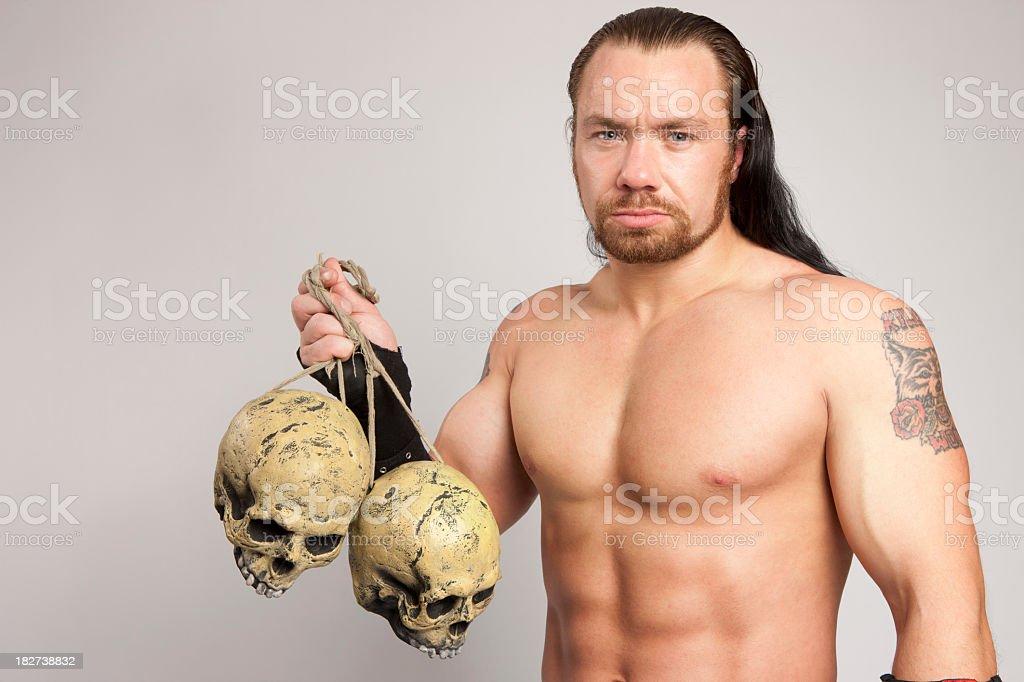 Wrestler stock photo