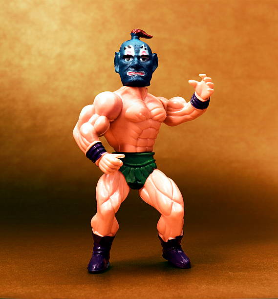 Wrestler With Blue Mask stock photo
