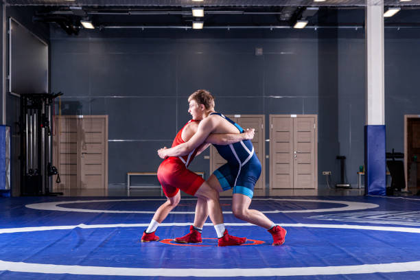 wrestlers - wrestling stock pictures, royalty-free photos & images