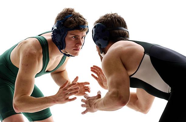 wrestlers ringen  - ringen stock-fotos und bilder