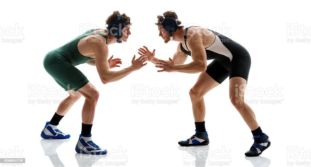 Wrestlers wrestling stock photo