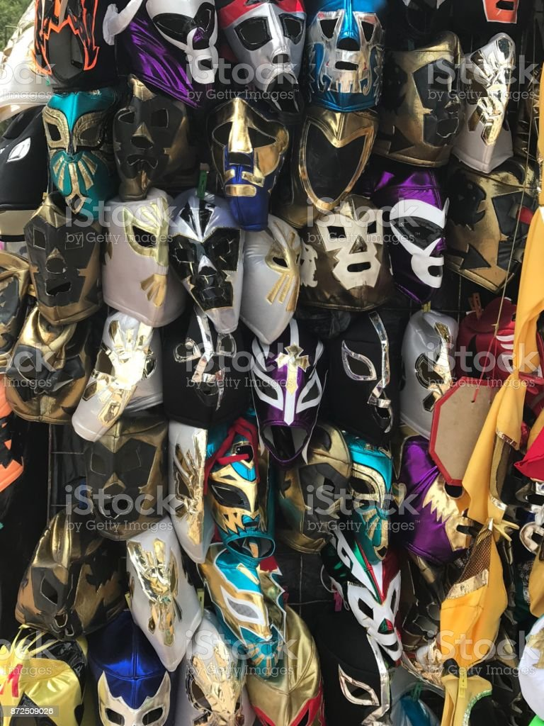 Wrestling Masks stock photo
