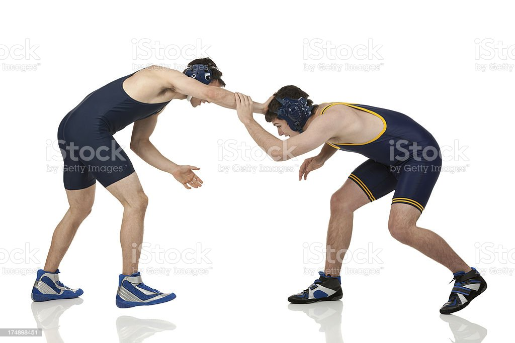 Wrestling match in progress royalty-free stock photo