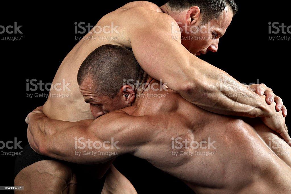 Wrestling royalty-free stock photo