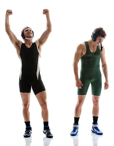 wrestling winner and loser - wrestling stock pictures, royalty-free photos & images