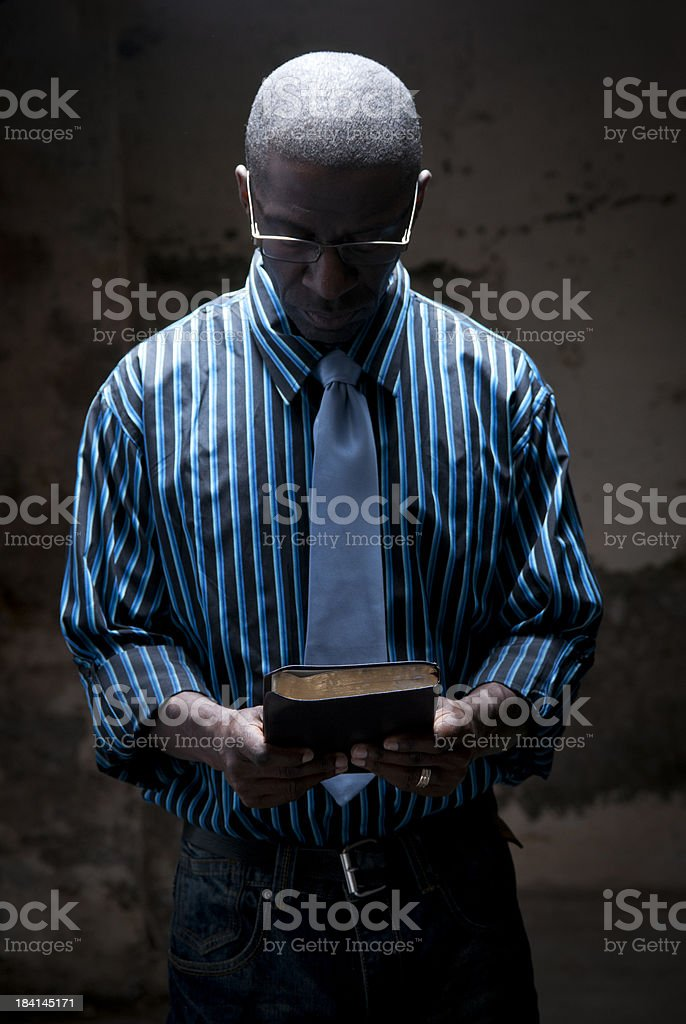 wrestling with scripture royalty-free stock photo