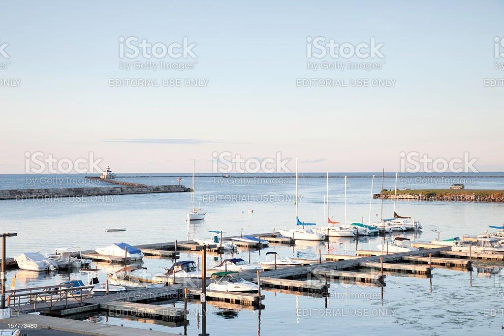 Wright's Landing Marina, Oswego, NY stock photo