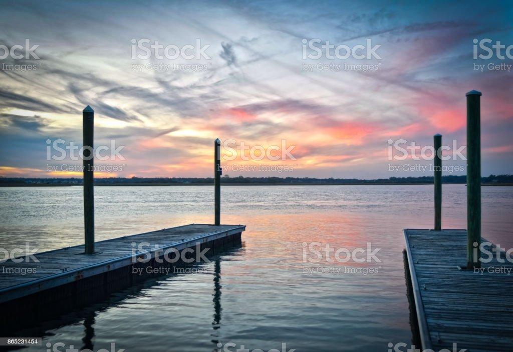 Wrightsville Beach Sunset stock photo