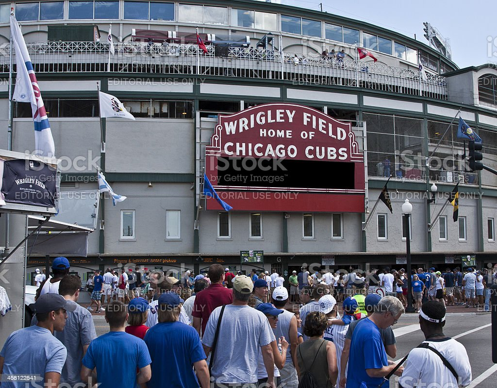 Wrigley Field, outside stock photo