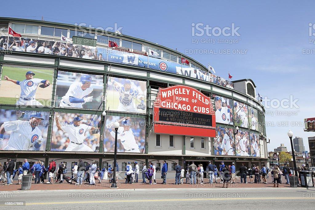 Wrigley Field Stadium in Chicago stock photo