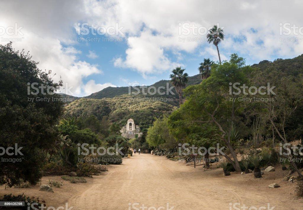 Wrigley memorial and botanic gardens on Catalina Island stock photo