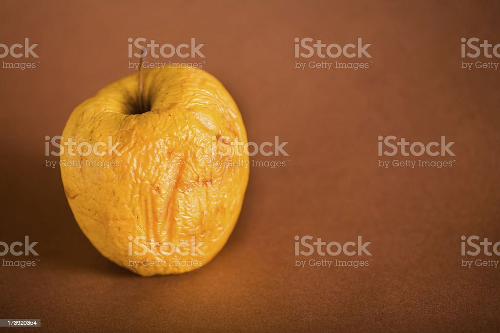 Wrinkled apple royalty-free stock photo