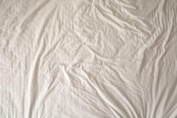 Wrinkled Cotton Background stock photo