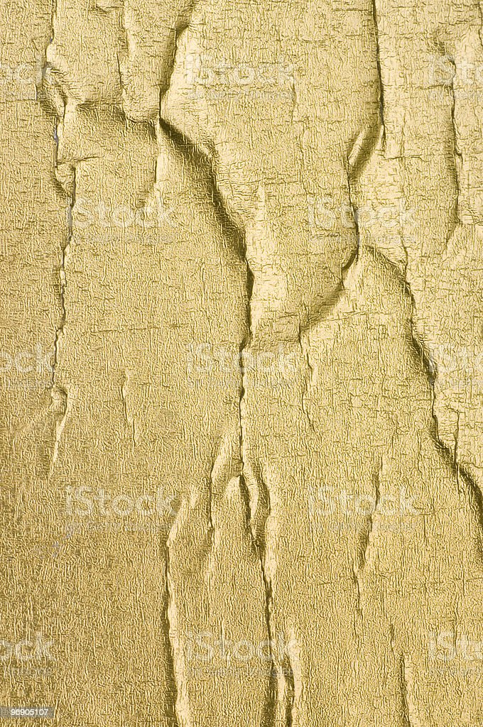 Wrinkled Gold Foil royalty-free stock photo