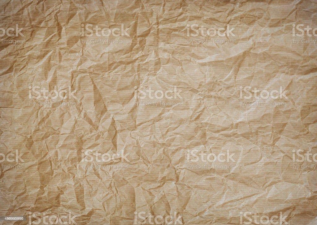 wrinkled kraft paper stock photo