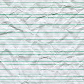 istock Wrinkled Lined Paper 184595103