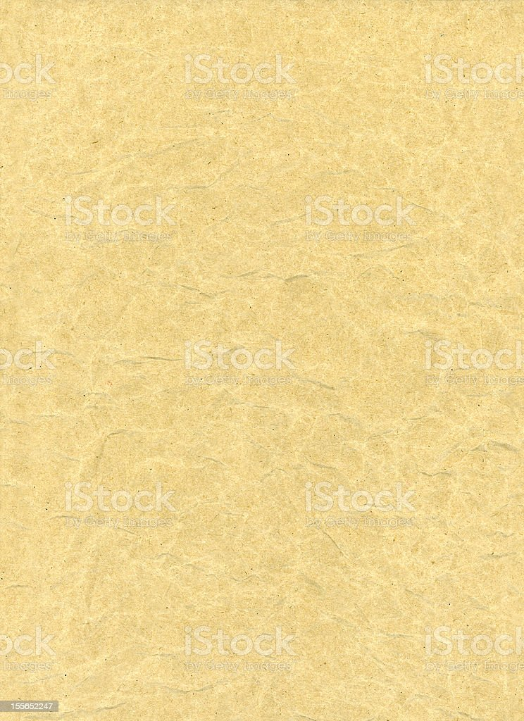 Wrinkled manila paper royalty-free stock photo