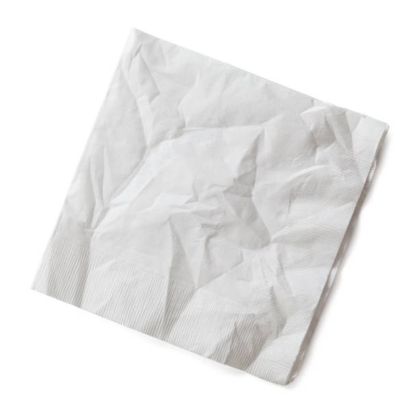 Wrinkled Napkin stock photo