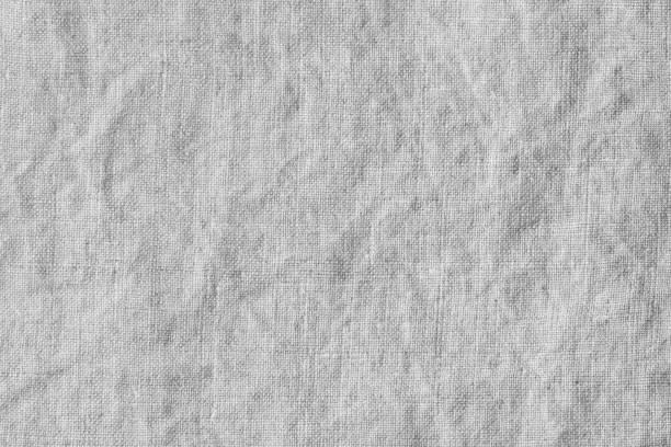 wrinkled, natural linen texture - tovaglia foto e immagini stock