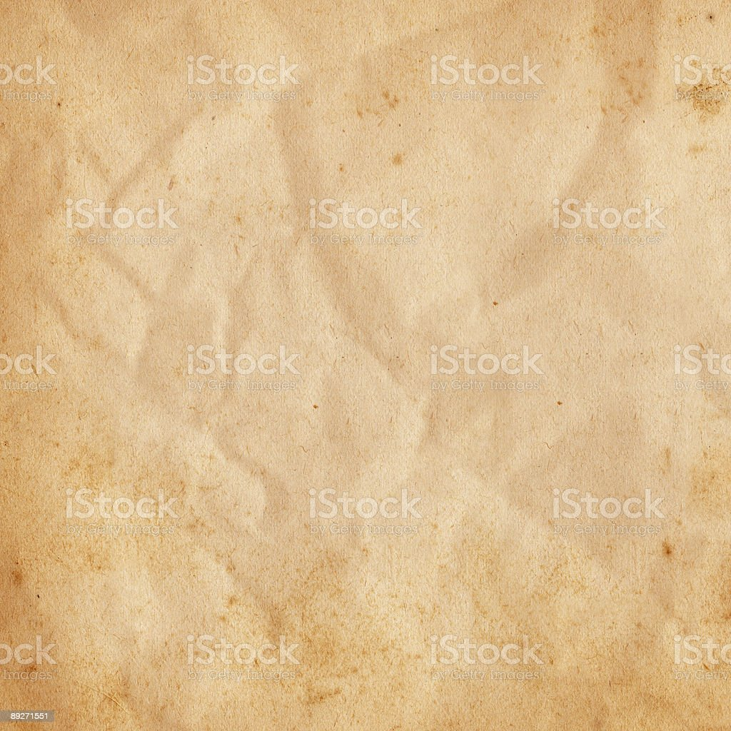 Wrinkled Paper Square stock photo