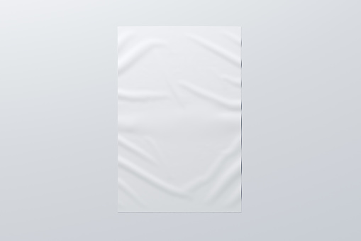 istock Wrinkled street poster on the wall 1126718688