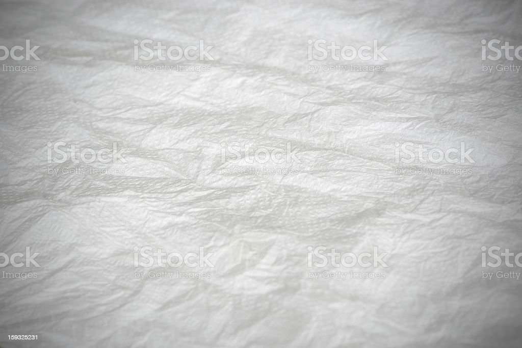 Wrinkled tissue paper texture royalty-free stock photo