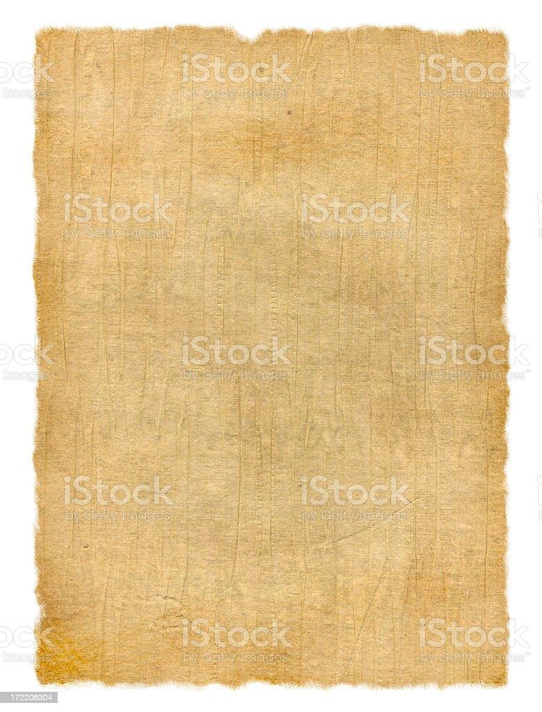 Wrinkled Vintage Paper stock photo