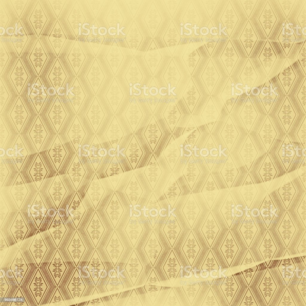 Wrinkled Wallpaper With A Pattern Rhombuses Sand Stock Photo More