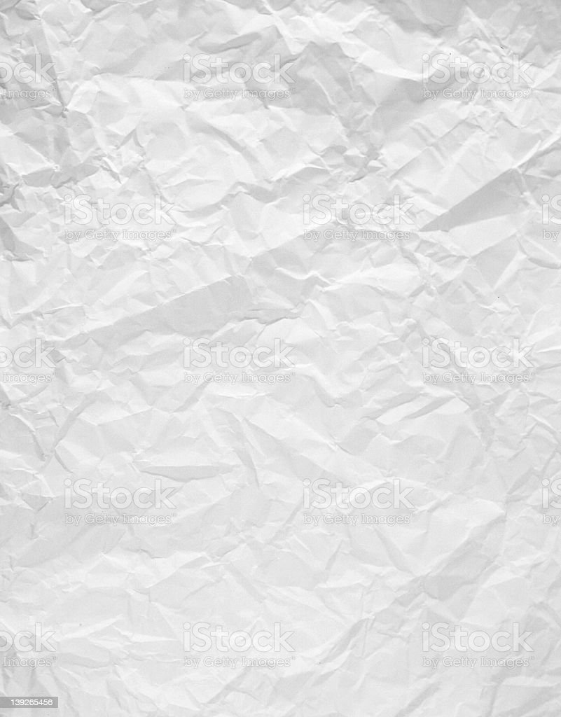 wrinkled white paper stock photo