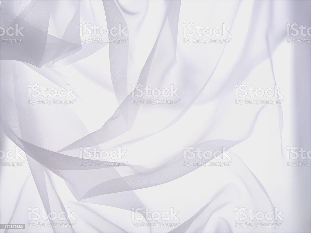 Wrinkled white sheer cloth background stock photo