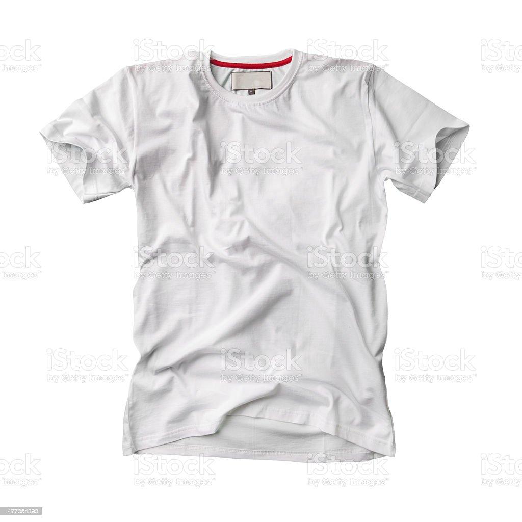 Wrinkled white t-shirt royalty-free stock photo