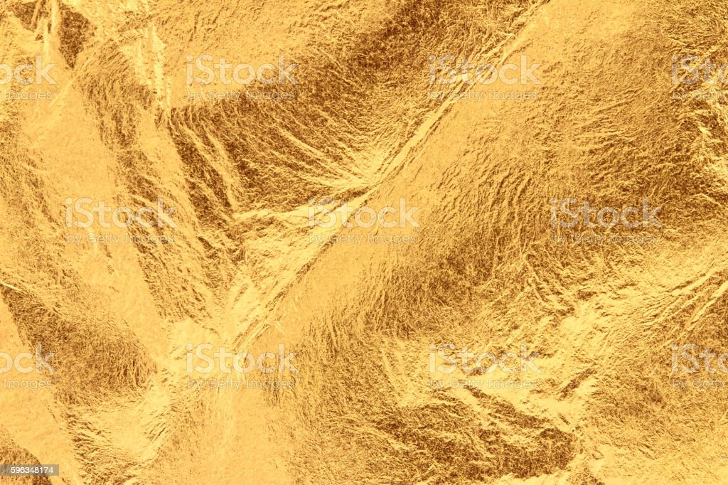 Wrinkly gold leaf royalty-free stock photo