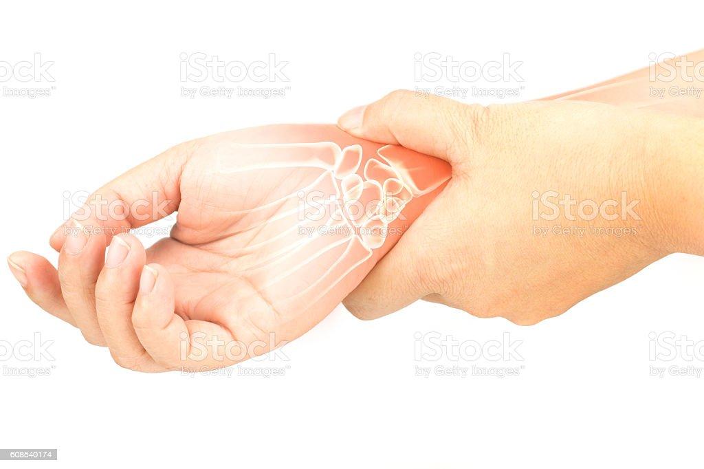 wrist bones injury stock photo