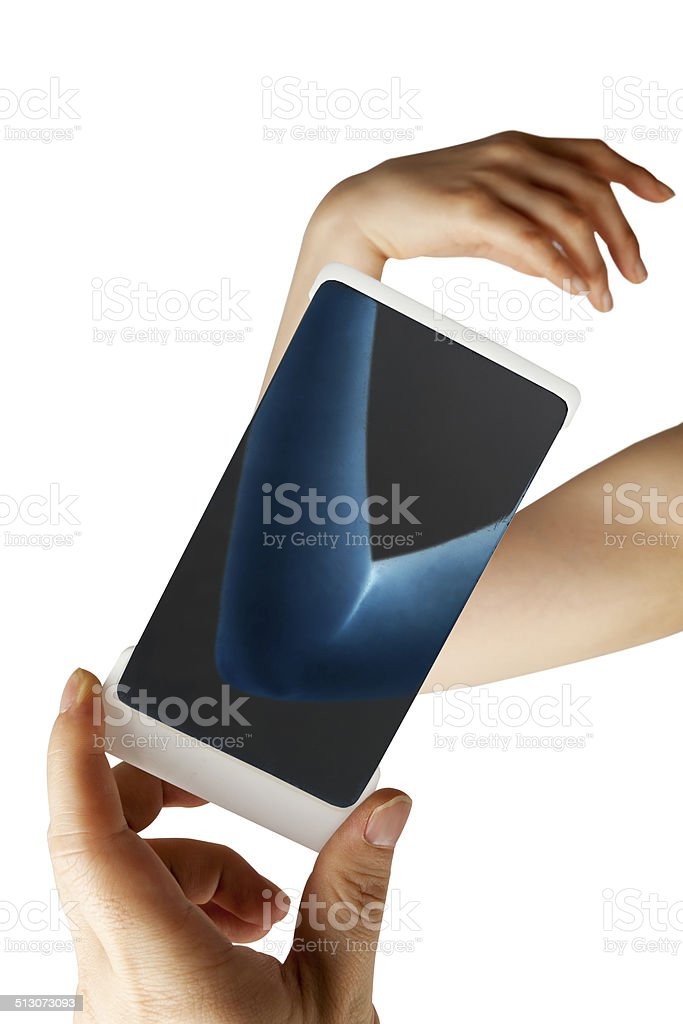wrist checkup stock photo