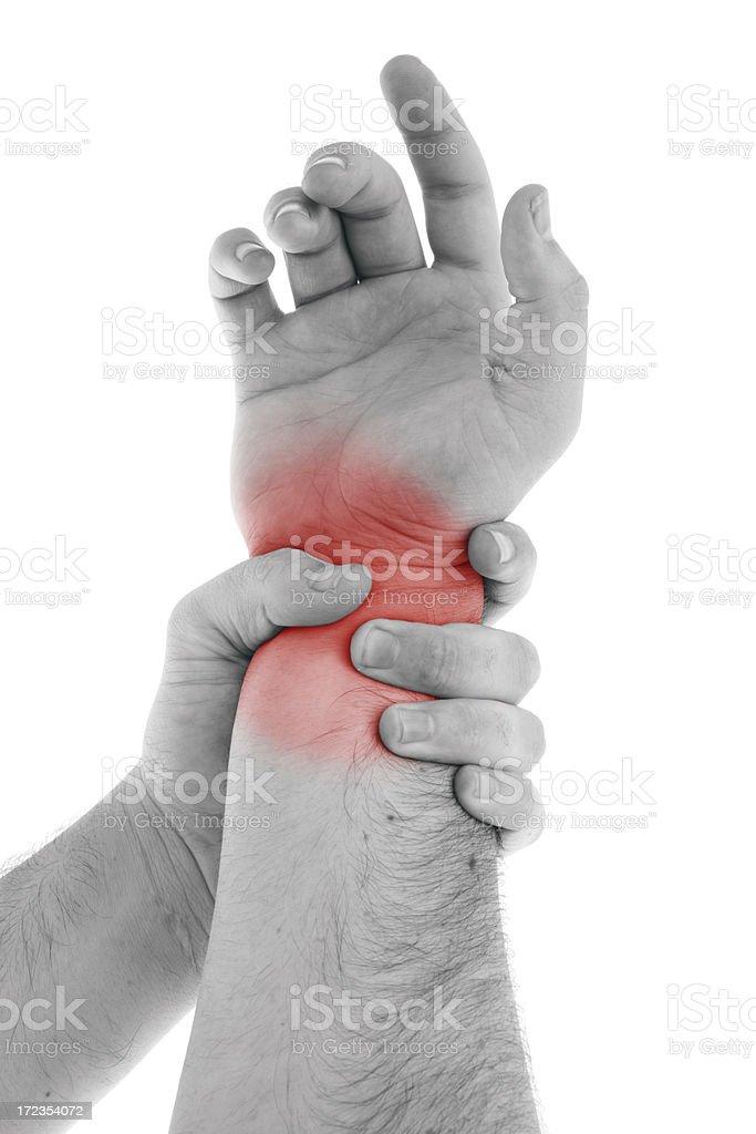 Wrist Injury (request) royalty-free stock photo