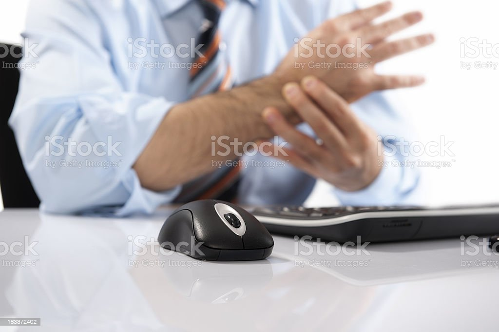 Wrist Pain and Mouse stock photo