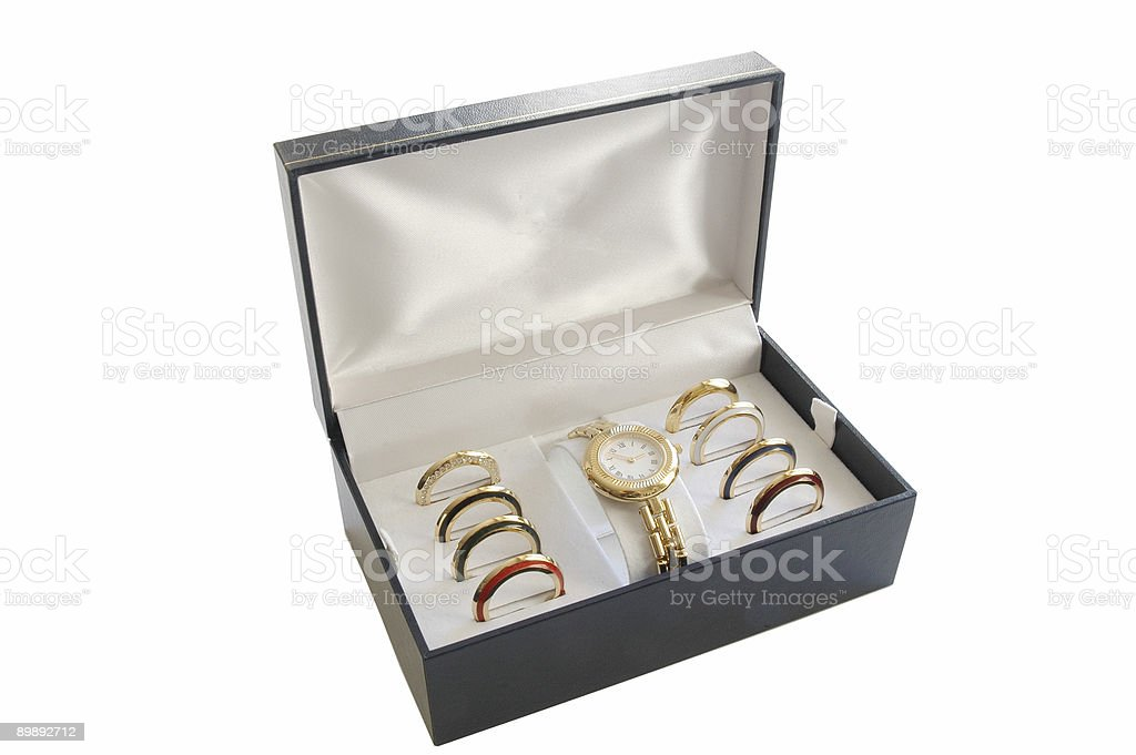 wrist watch in box royalty-free stock photo